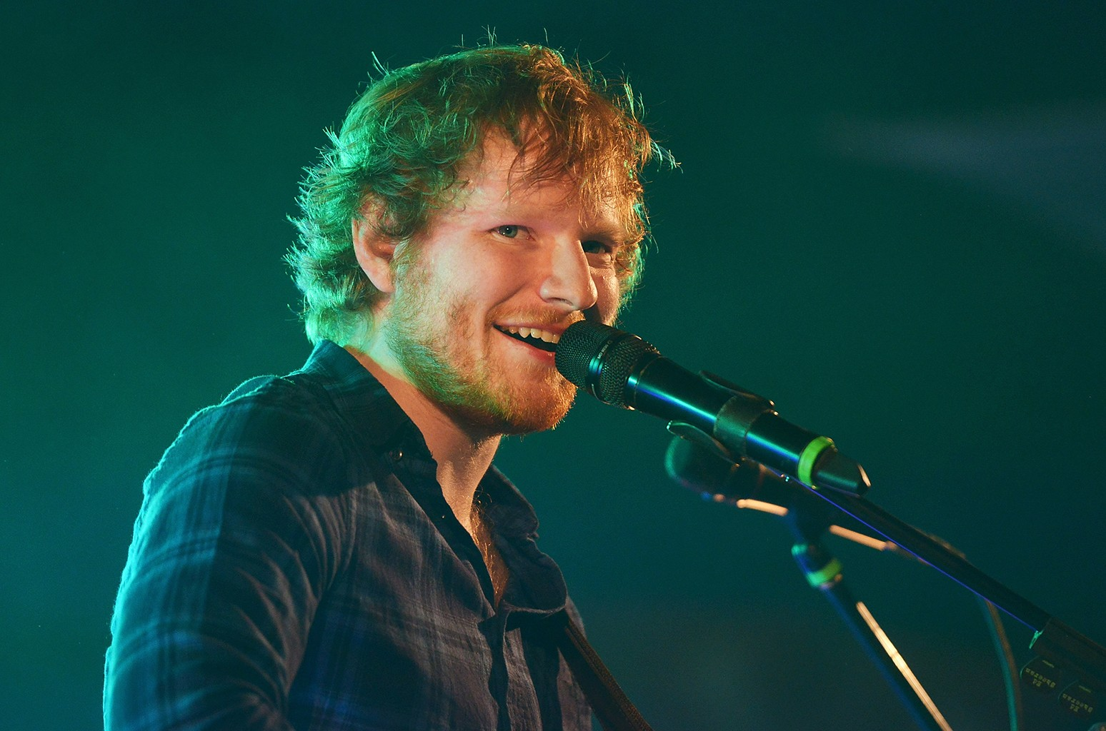 Ed Sheeran performs at Henham Park Estate on July 17, 2015 in Southwold, England.