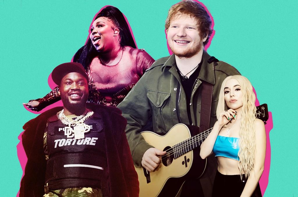 Meek Mill, Lizzo, Ed Sheeran and Ava Max