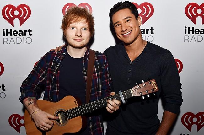 Ed Sheeran and Mario Lopez