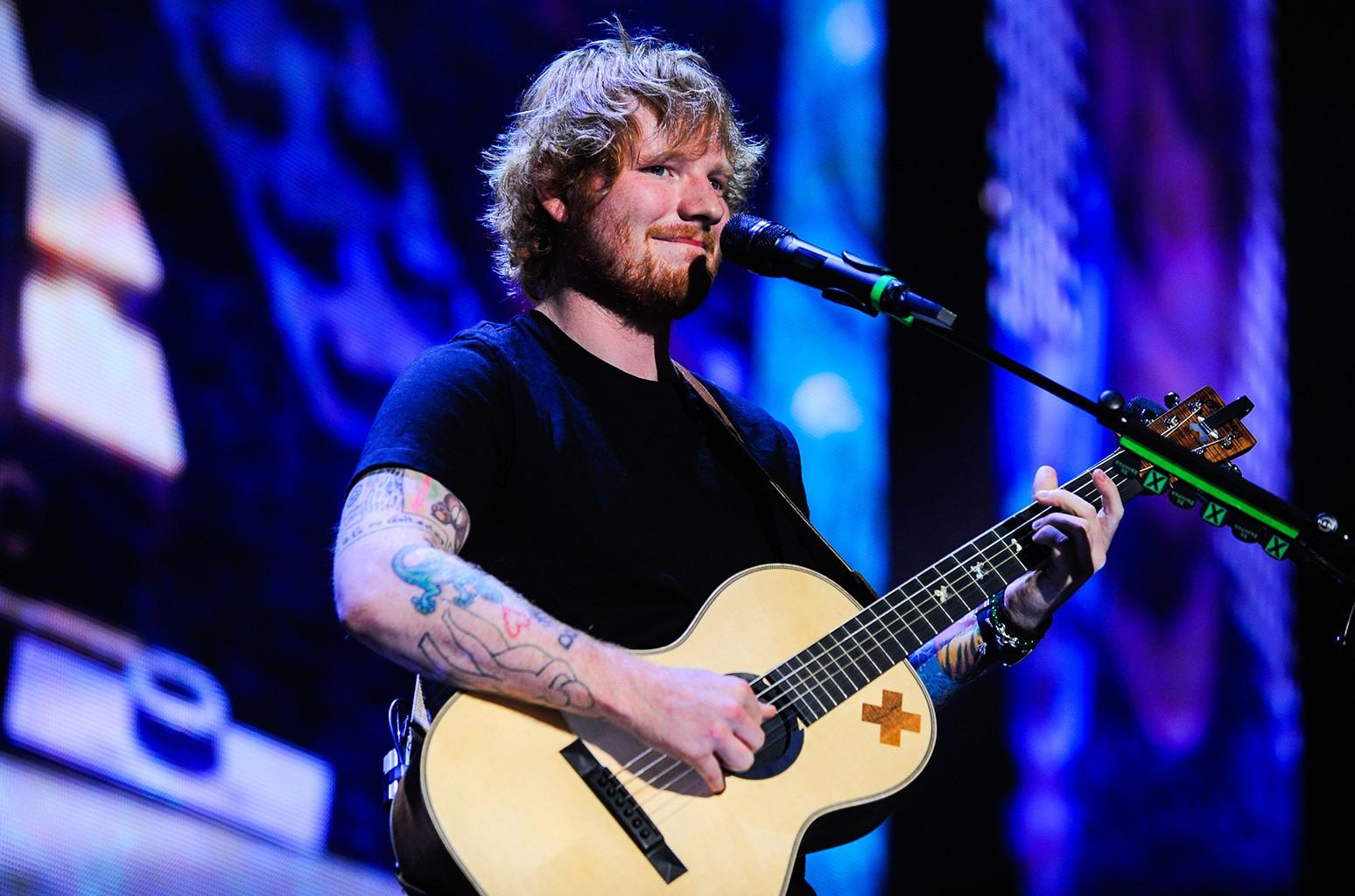 Ed Sheeran performs in Miami