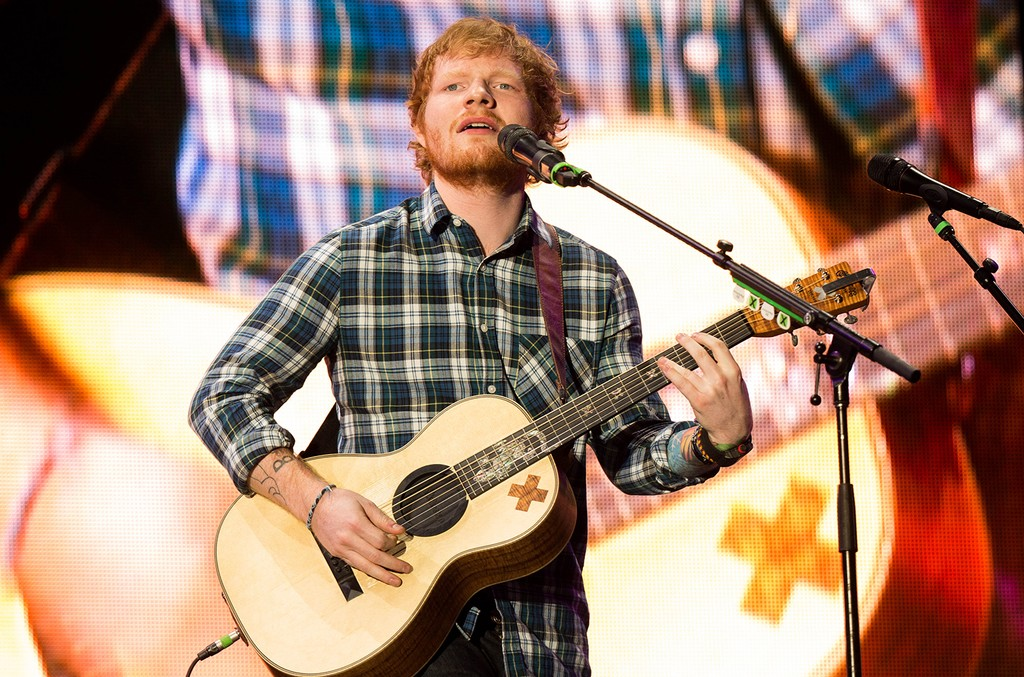 Ed Sheeran performs during Rock in Rio at the MGM Resorts Festival Grounds on May 15, 2015 in Las Vegas.
