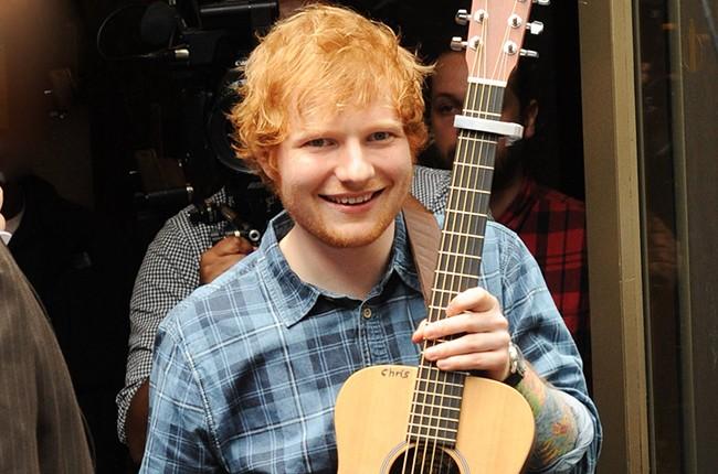 Ed Sheeran performs during SiriusXM Sidewalk Session