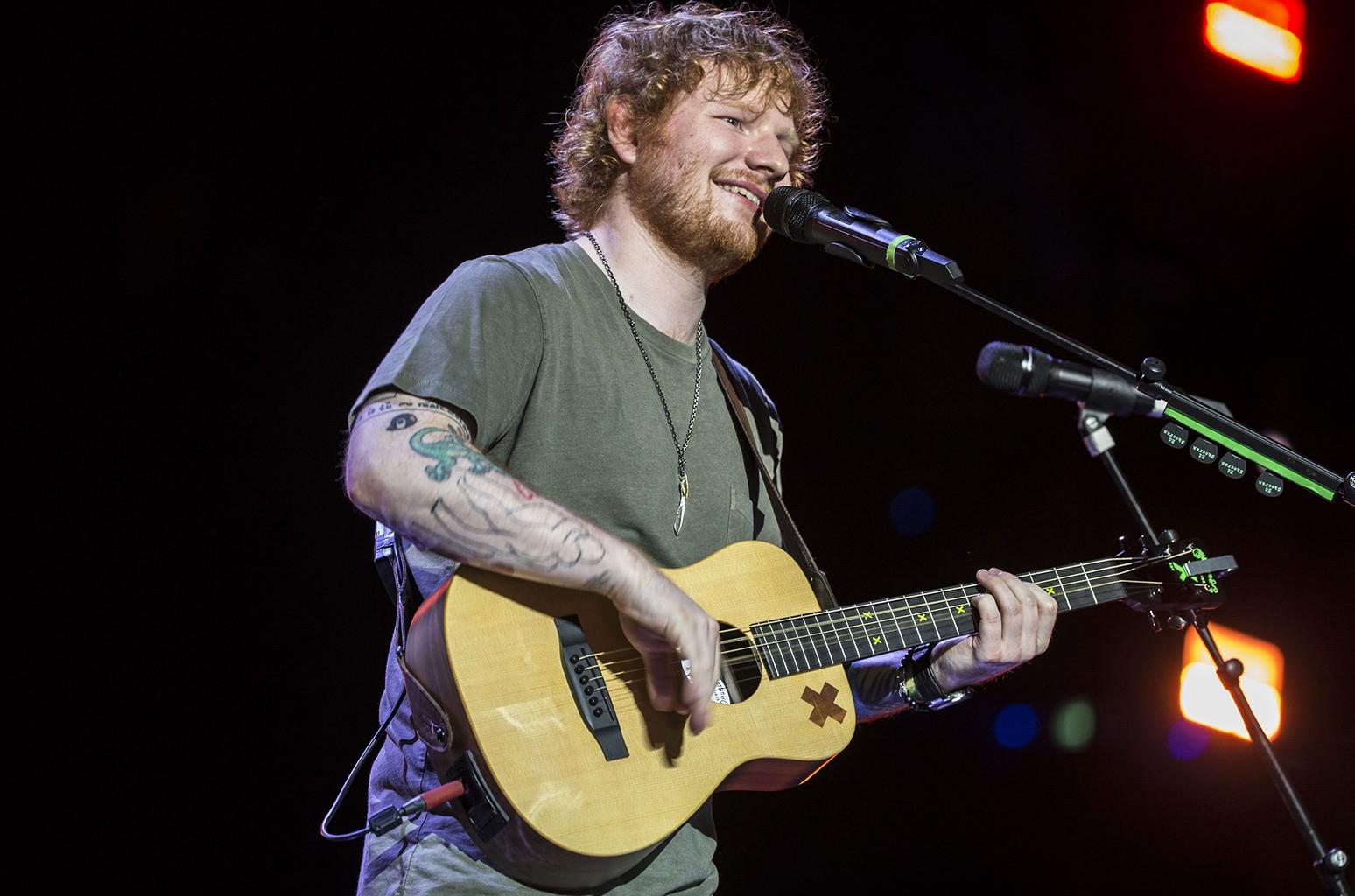 Ed Sheeran performs at Suncorp Stadium on Nov. 28, 2015 in Brisbane, Australia.