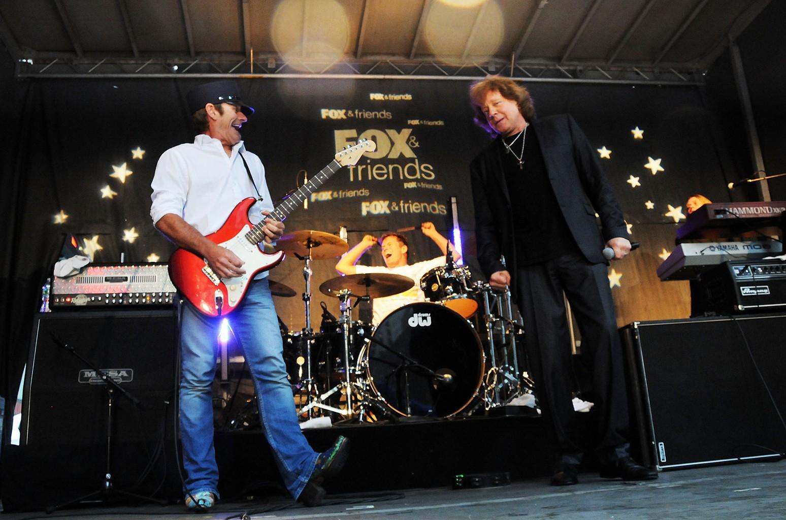 Eddie Money and drummer Glenn Symmonds