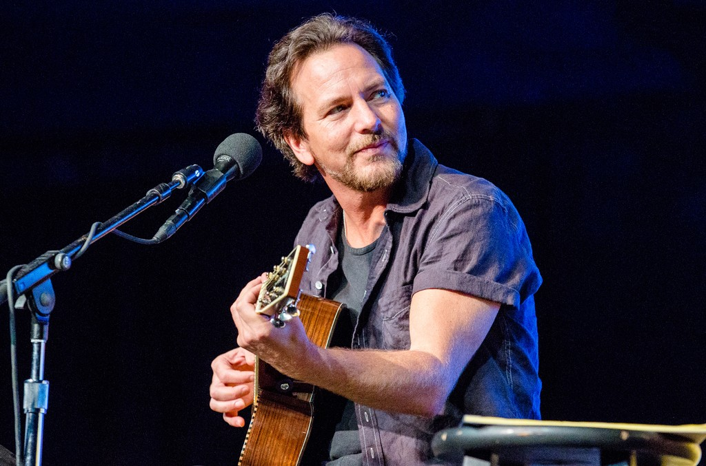 Eddie Vedder of Pearl Jam performs in the Comedy Tent during the Bonnaroo Music & Arts Festival on June 11, 2016 in Manchester, Tenn.