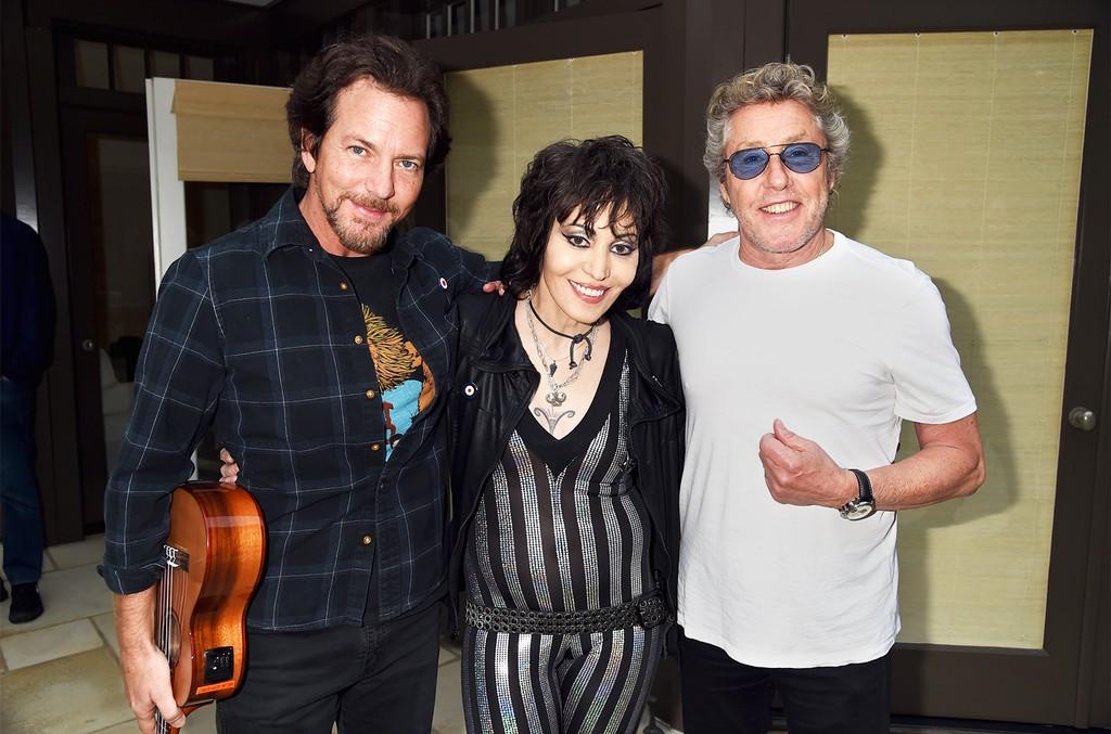 Eddie Vedder, Joan Jett and Roger Daltrey