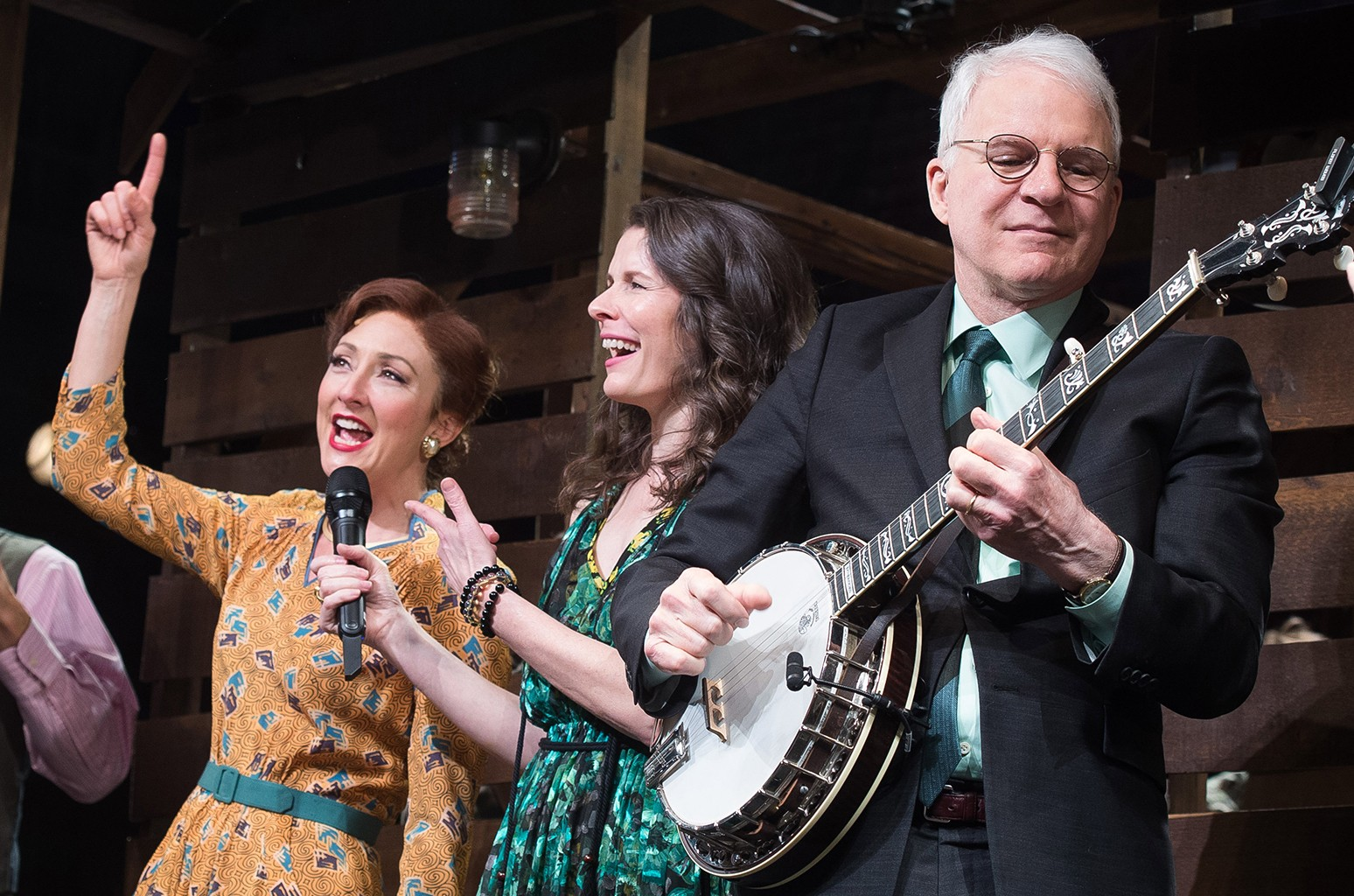 Edie Brickell and Steve Martin at the curtain call for Bright Star
