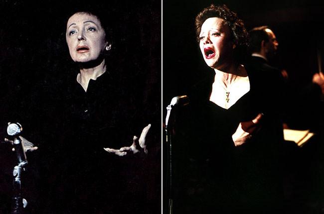 Edith Piaf and Marion Cotillard as Edith Piaf