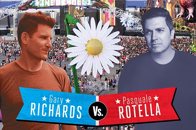 Clash of the dance titans: The twin towers of EDM — Gary Richards and Pasquale Rotella — have been rivals for years. Now, a legal battle over the electric daisy Carnival brings a new low.