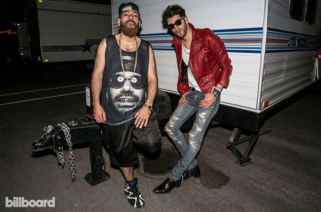 David Macklovich and Patrick Gemayel of Chromeo at Electric Daisy Carnival Las Vegas 2014