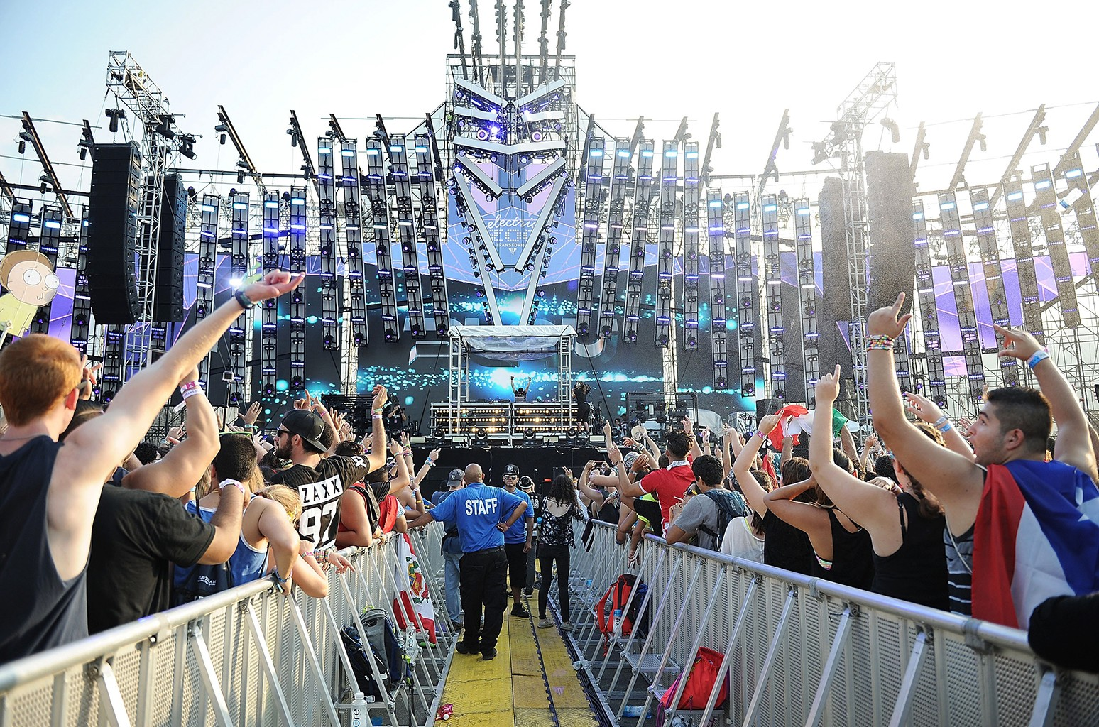 Audience at 2015 electric zoo