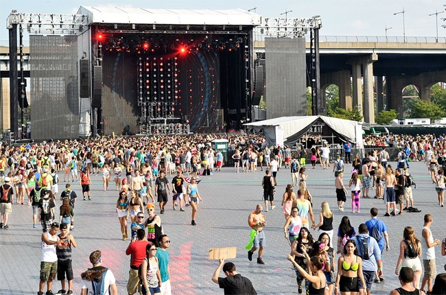 The crowd at the 2013 Electric Zoo festival in New York