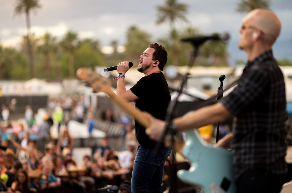 Eli Young Band performs at The Empire Polo Club on April 25, 2015 in Indio, Calif.