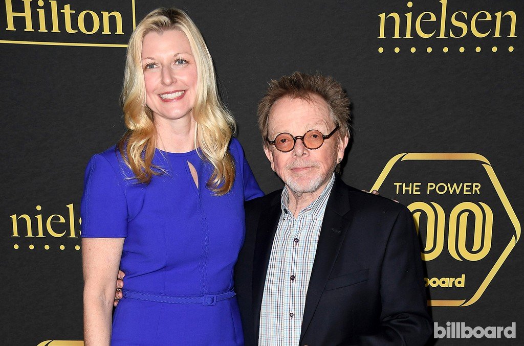 Elizabeth Matthews (L), Chief Executive Officer of ASCAP and composer Paul Williams attend Billboard Power 100 - Red Carpet at Cecconi's on Feb. 9, 2017 in West Hollywood, Calif.