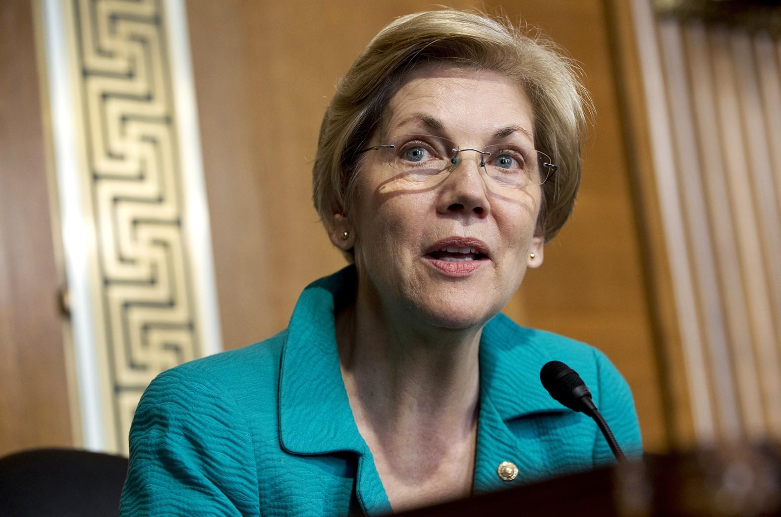 Sen. Elizabeth Warren photographed in 2015