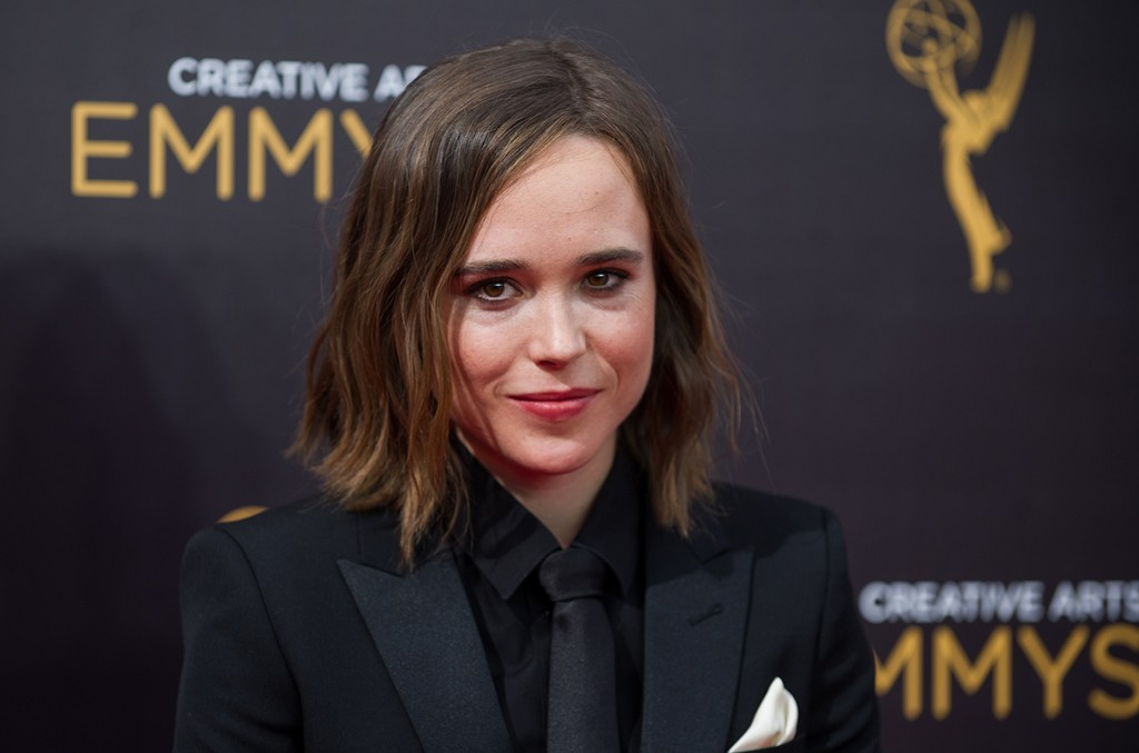 Ellen Page arrives at the Creative Arts Emmy Awards at Microsoft Theater on Sept. 10, 2016 in Los Angeles.