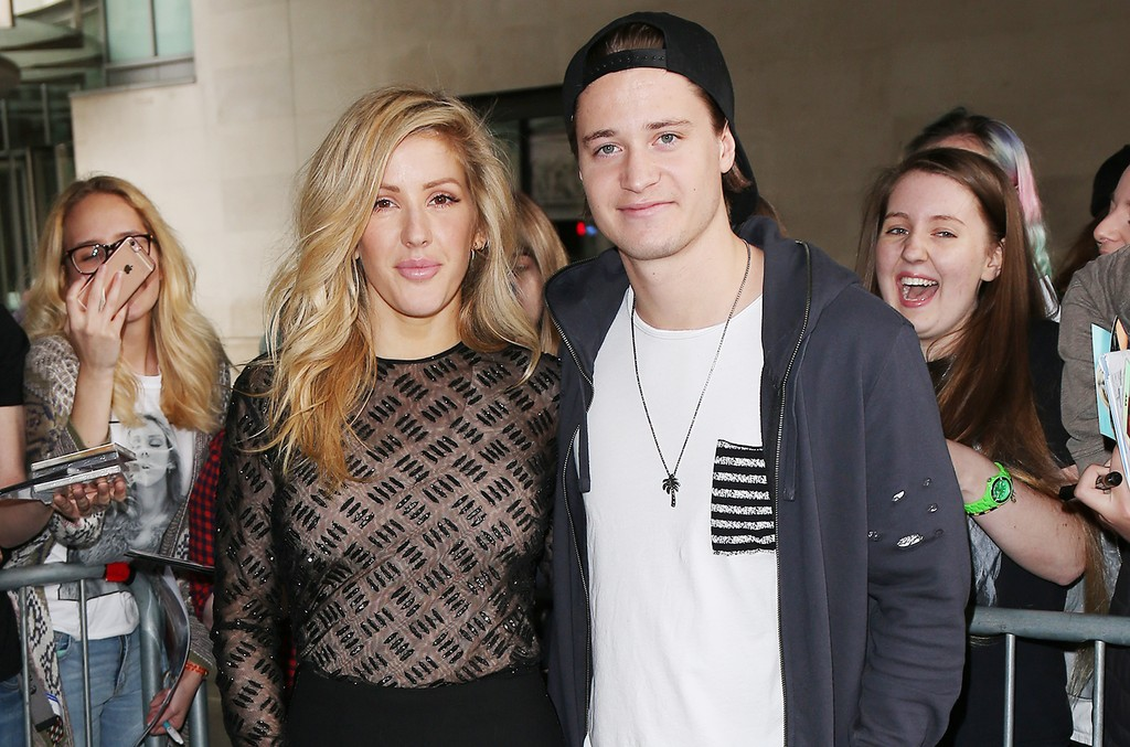 Ellie Goulding and Kygo at BBC Radio One on May 31, 2017 in London.