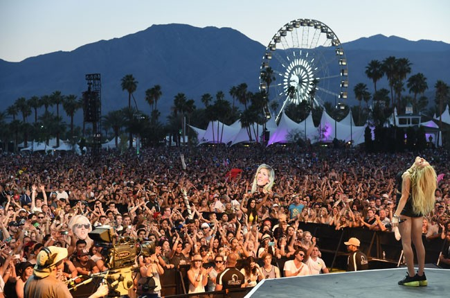 Singer Ellie Goulding performs onstage during day 1 of 2014 Coachella