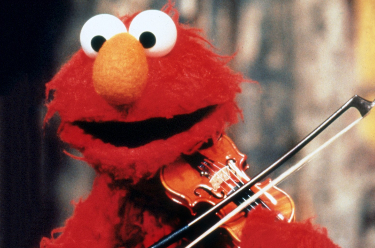 Elmo on Sesame Street.
