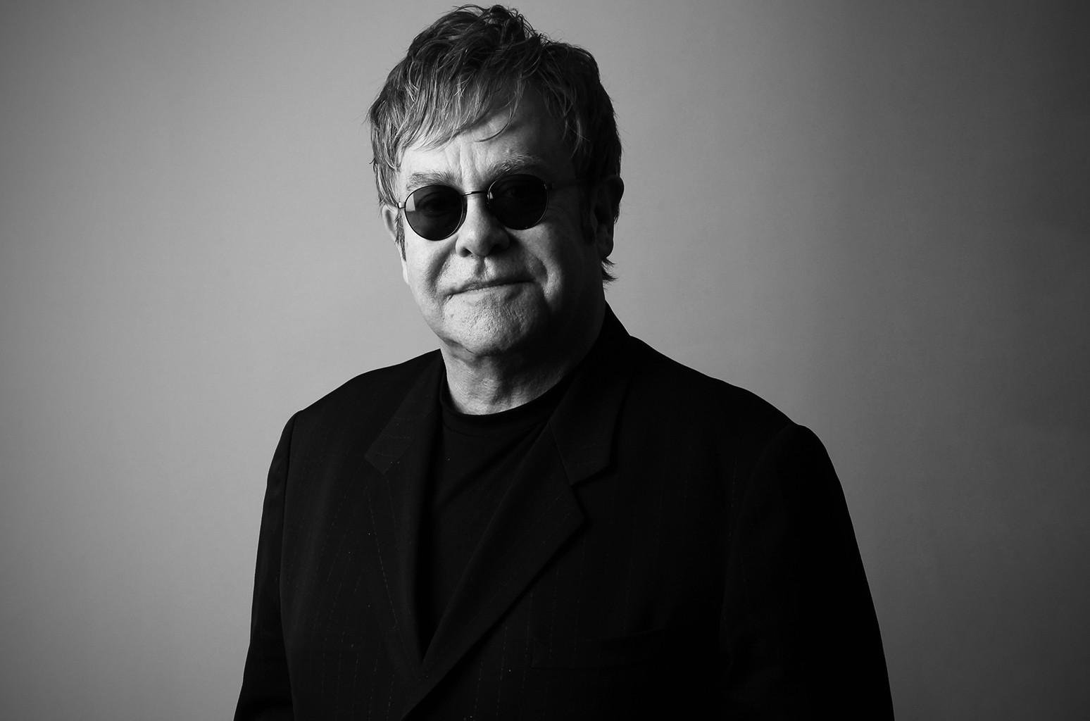 Elton John photographed in Beverly Hills