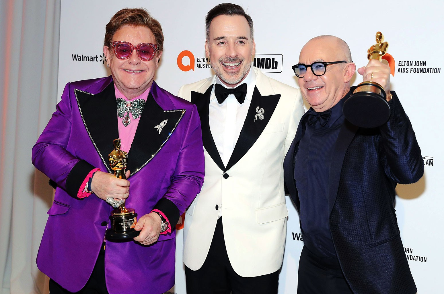 Sir Elton John, David Furnish and Bernie Taupin