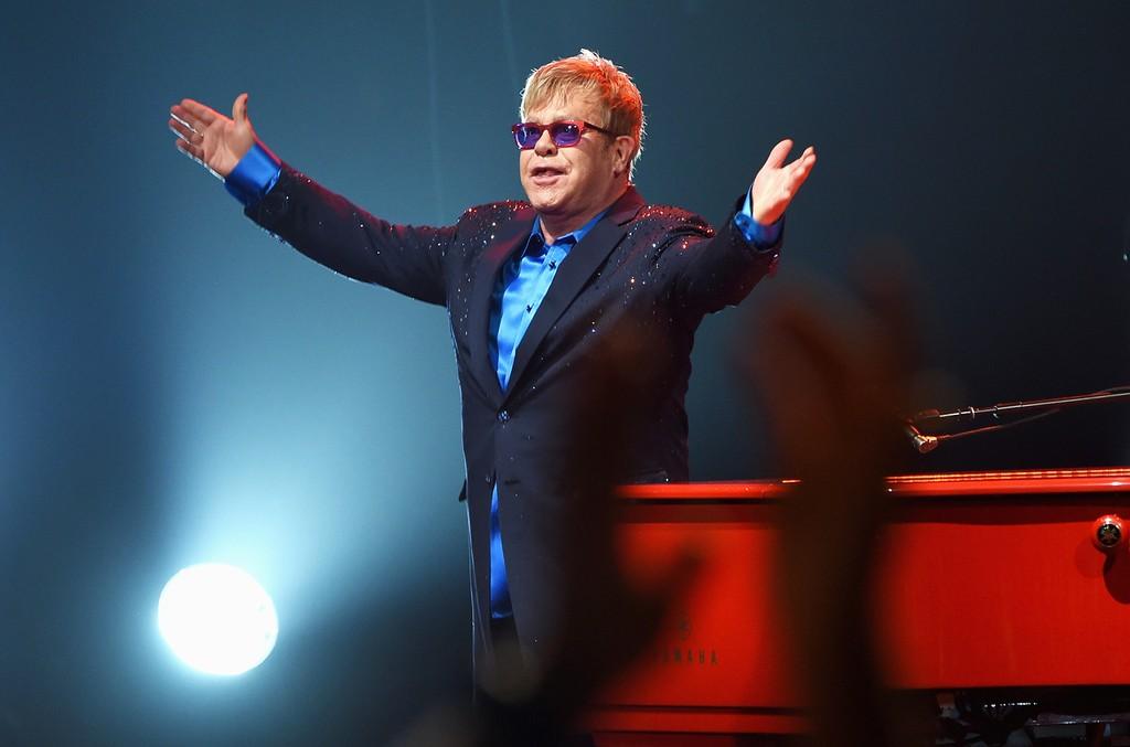 Elton John performs in 2016