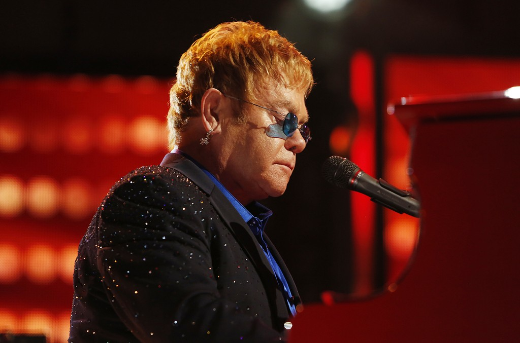 Elton John performs in 2016