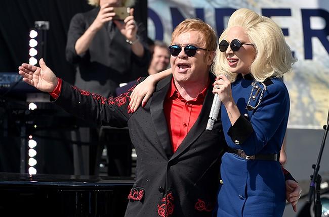 Elton John Lady Gaga 2016