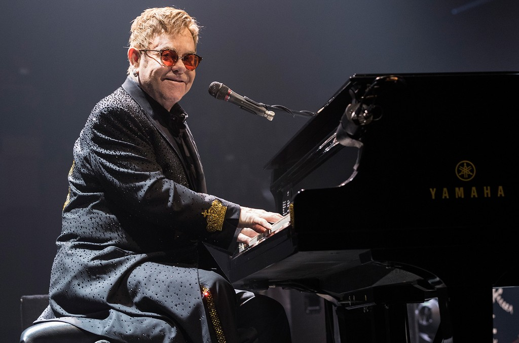 Elton John performs on March 11, 2017 in Victoria, Canada.