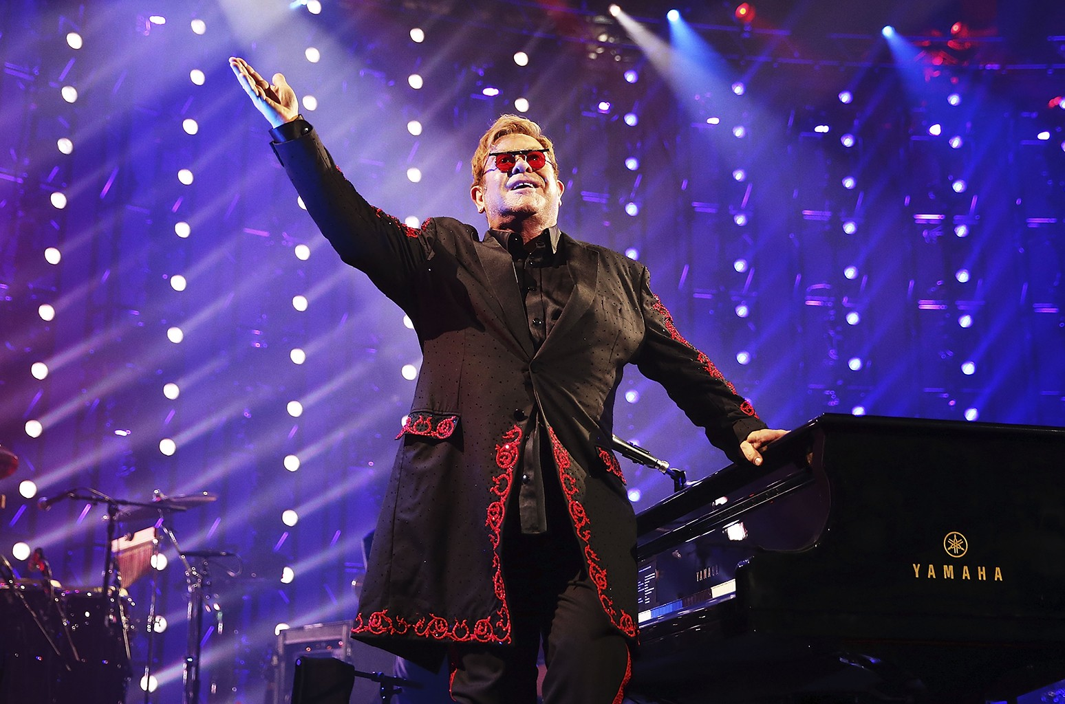 Elton John performs at The Roundhouse on Sept. 18, 2016 in London.