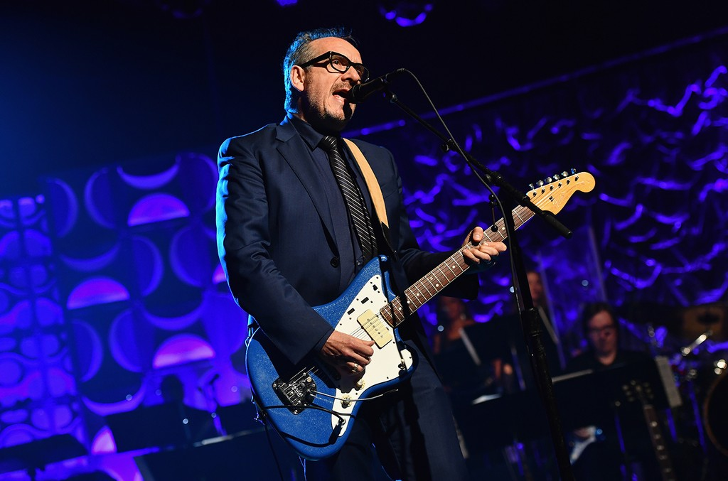 Elvis Costello performs at Marriott Marquis Hotel on June 9, 2016 in New York City.