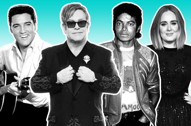 Elvis Elton John Michael Jackson Adele 2016