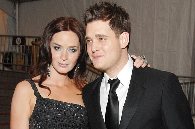 Emily Blunt and Michael Buble
