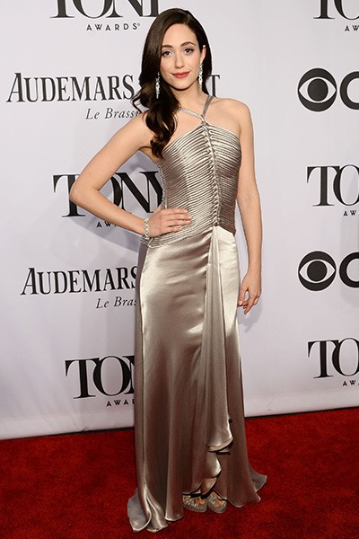 Emmy Rossum attends the 68th Annual Tony Awards