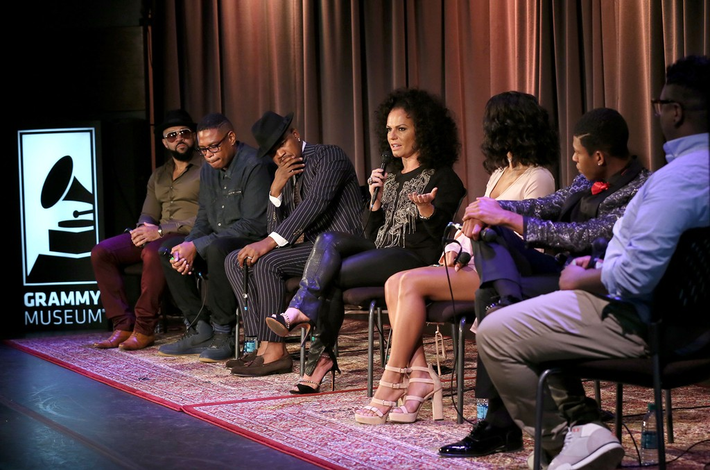 Empire cast during a discussion at the Grammy Museum