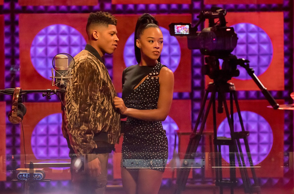 "(L-R) Bryshere Gray and Serayah in the ""The Naked Villainy"" episode of EMPIRE airing April 12, 2017 on FOX."