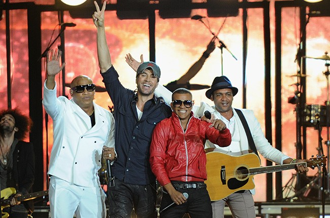 Enrique Iglesias and Gente de Zona perform at the 2014 Billboard Latin Music Awards on April 24, 2014 in Miami.
