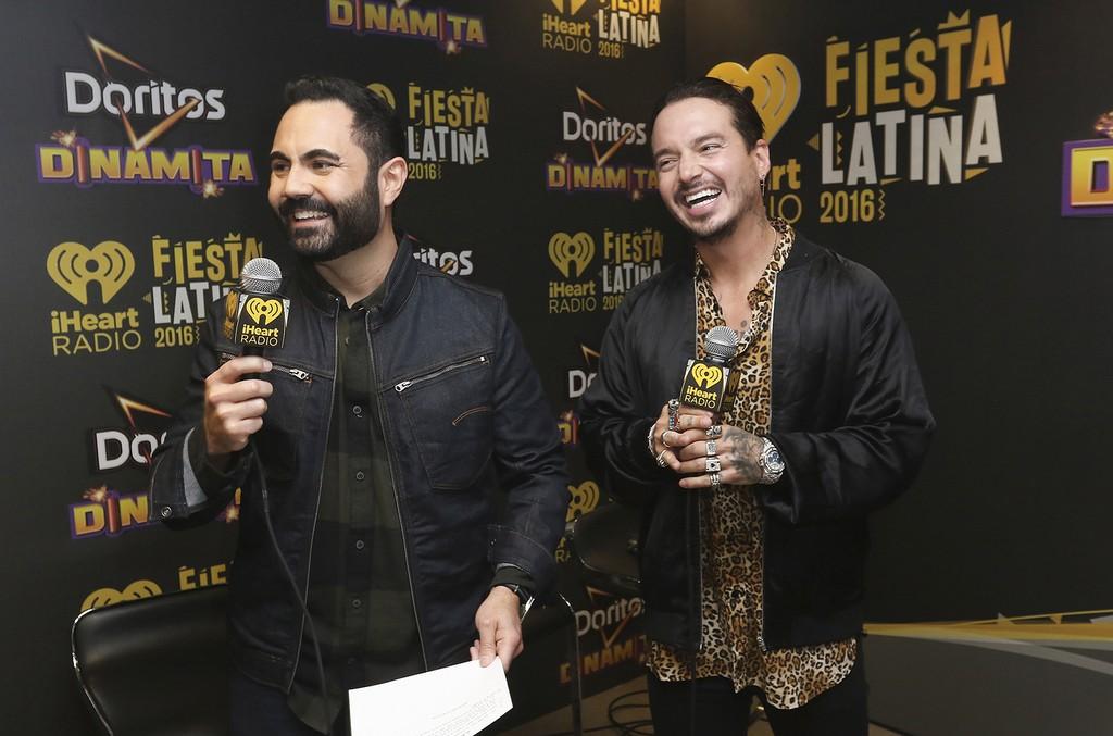 Enrique Santos and J Balvin  at iHeartRadio Fiesta Latina