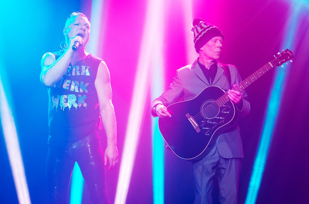 Andy Bell and Vince Clarke of Erasure perform at Terminal 5 on Dec. 31, 2014 in New York City.