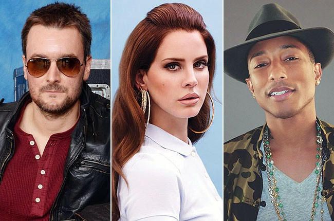 Eric Church, Lana Del Rey, Pharrell