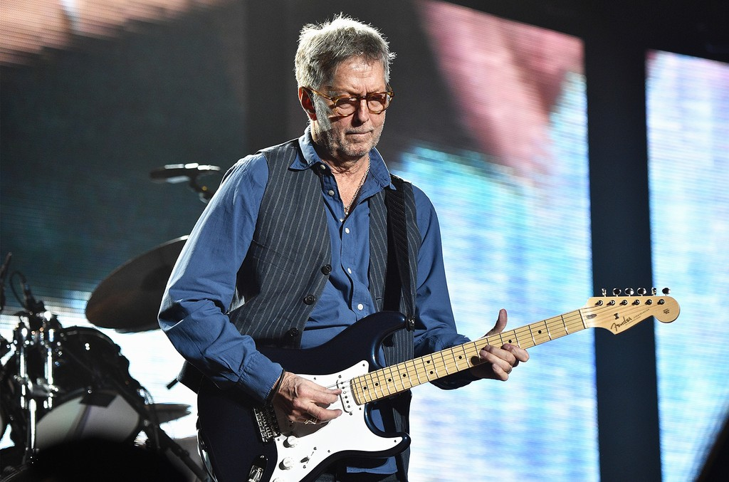 Eric Clapton performs at Madison Square Garden on March 19, 2017 in New York City.