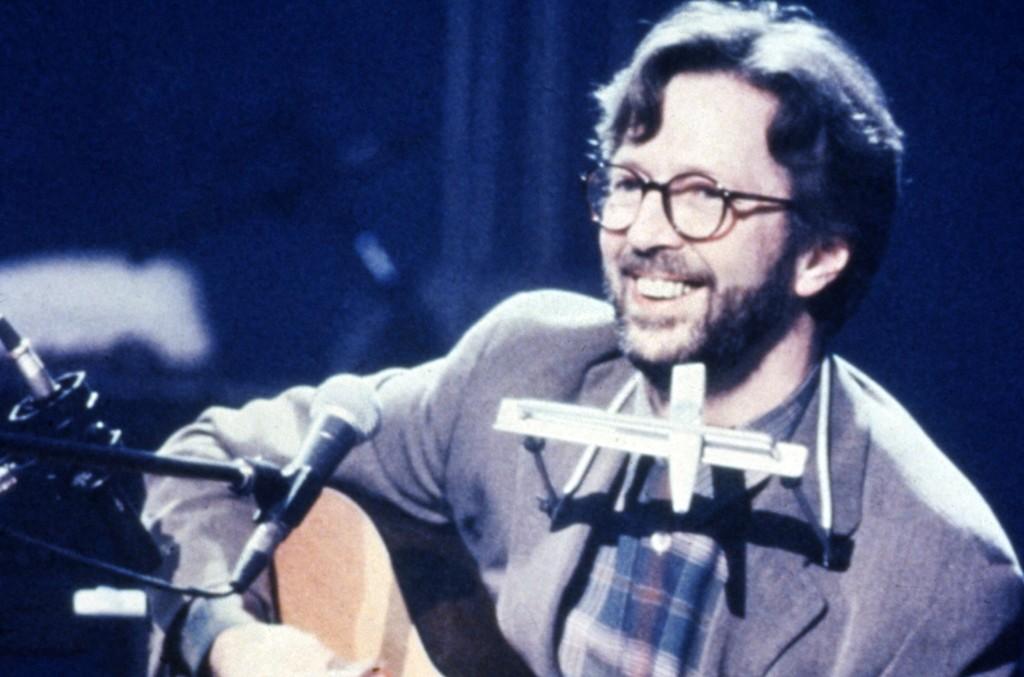 Eric Clapton during MTV Unplugged