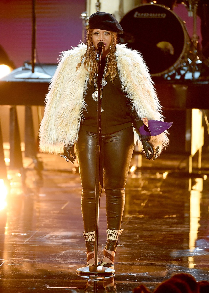 Erykah Badu performs onstage during the 2016 BET Awards