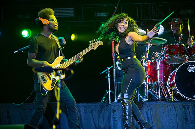 K. Michelle performs at the 2014 Essence Music Festival