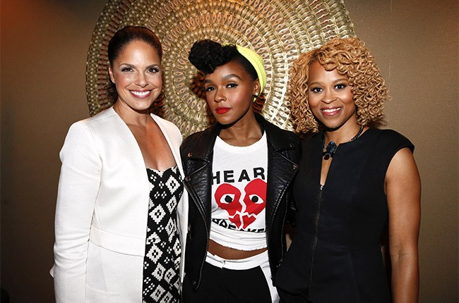 Soledad O'Brien and Janelle Monae at the 2014 Essence Music Festival