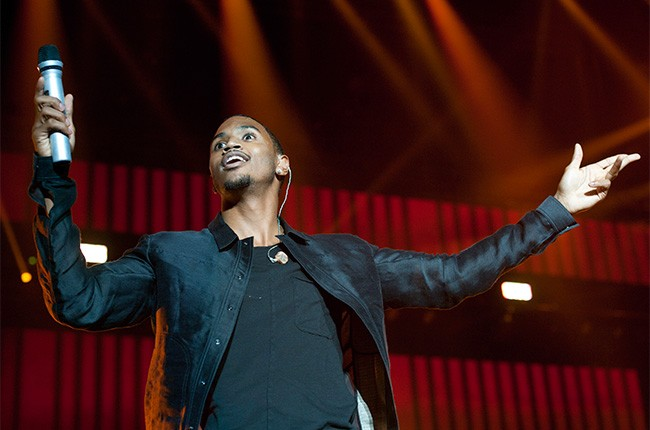 Trey Songz performs at the 2014 Essence Music Festival