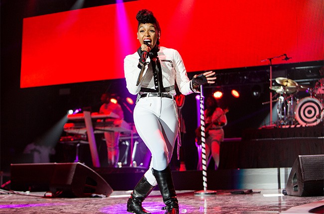 Janelle Monae performs at the 2014 Essence Music Festival