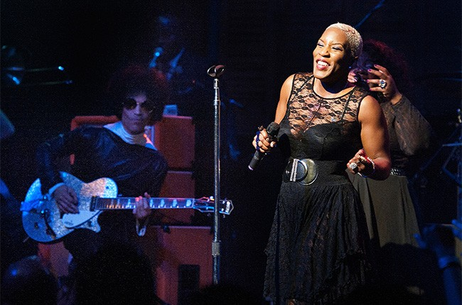 Prince performs with Liv Warfield at the Essence Late-Night After-Party