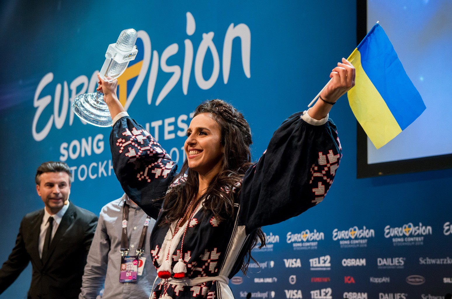 Ukraine's Jamala wins Eurovision 2016.