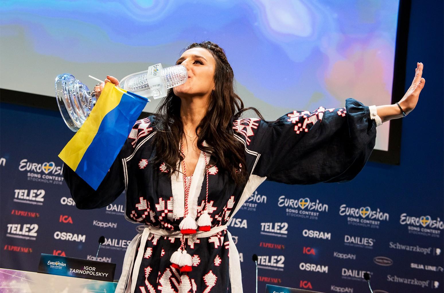 The 2016 Eurovision Song Contest winner, Jamala of Ukraine.